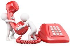 3d人电话小联系 免版税库存照片