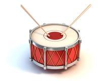 大鼓仪器3d例证 库存图片