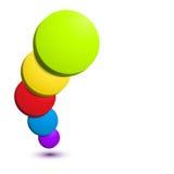 五颜六色的3D圈子背景。 免版税库存照片
