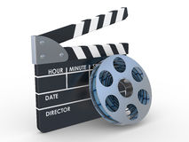 3d 35mm Film Strip and film maker Stock Images
