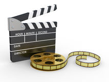 3d 35mm Film Strip and film maker Stock Photos