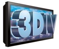 3d 3dtv电视电视 库存例证