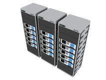 3d 4服务器 向量例证