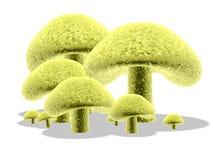 3d 4蘑菇 免版税库存照片