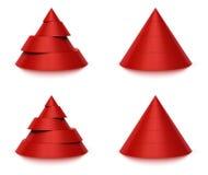 3d 4 5个圆锥形级别形状 库存照片
