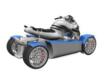 3D 4-wheeled vehicle Royalty Free Stock Photos