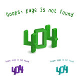 3d 404 letter - page not found Stock Images