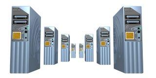 3d 5服务器 向量例证