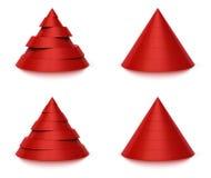 3d 6 7个圆锥形级别形状 库存照片