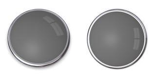 3d 60按钮灰色固体 免版税图库摄影