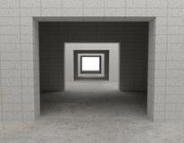 3d大厦白色 免版税图库摄影