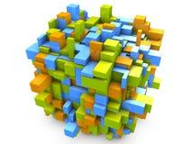 3d抽象派多维数据集 库存照片