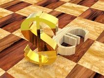 3d棋 免版税库存图片