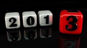 3d Año Nuevo 2013 Imágenes de archivo libres de regalías