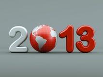 3d Año Nuevo 2013 Fotos de archivo