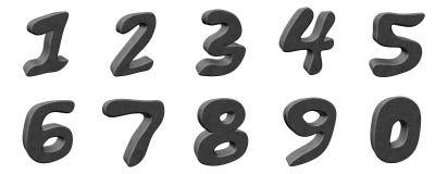 3d aantallen Stock Afbeeldingen