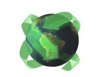 3d aarde beeld van het recyclingsconcept Stock Afbeelding