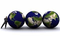 3d aarde en mens Stock Foto's