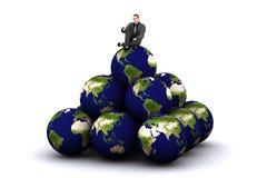 3d aarde en mens Royalty-vrije Stock Foto