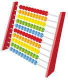 3d abacus. A 3d abacus icon isolated on white Stock Photography