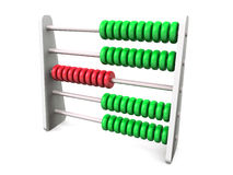 3D Abacus green silver red. Silver Abacus with white background Royalty Free Stock Photo