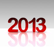 3d Abbildung - 2013 Lizenzfreie Stockfotografie