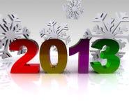 3d Abbildung - 2013 Lizenzfreie Stockfotos