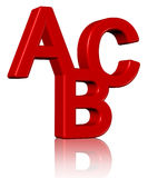 3D abc vector illustratie
