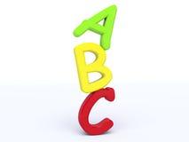 3d ABC balancing. A 3d render of abc balancing Royalty Free Stock Photography