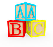 3D ABC cubes Royalty Free Stock Photos