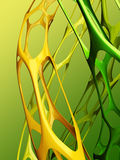 3d abracst bionic background. 3d bionic futuristic ctructures on a green background Stock Photo