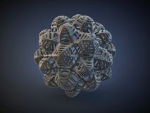 3d absract carbon shape Royalty Free Stock Images