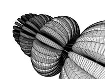 3d abstract. Three-dimensional abstraction in black and white halftones Royalty Free Stock Photos