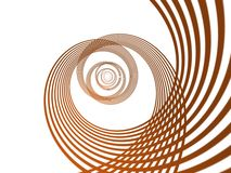 3D abstract. 3D spiral abstract, white background Royalty Free Stock Photo