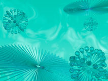 3D abstract. Rendered 3D abstract with spheres and radial elements Stock Photography