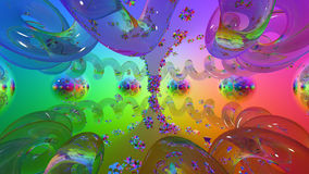 3d abstract. Color, glas, mirrors Royalty Free Stock Photos