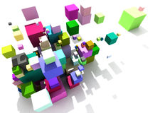 3d abstract. On white background Stock Image