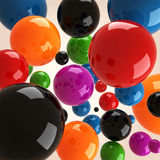 3d abstract abstract background -colorful balls Stock Photography