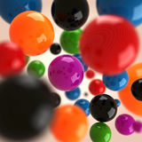 3d abstract abstract background -colorful balls. 3d abstract abstract background - colorful balls Royalty Free Stock Photo