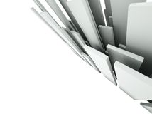 3d Abstract Architectural Background Royalty Free Stock Image