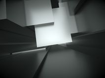 3d abstract architectural background. An abstract 3d architectural design stock illustration
