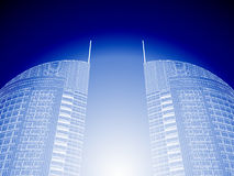 3d Abstract Architecture. Modern buildings design Royalty Free Stock Photo