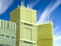 3d Abstract Architecture. Modern buildings design Royalty Free Stock Photography