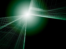 3d Abstract Architecture. Tunnel Background Royalty Free Stock Photography