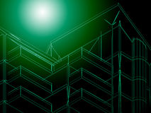 3d Abstract Architecture. Tunnel Background Stock Images