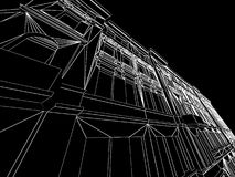 3d Abstract Architecture. Tunnel Background Royalty Free Stock Photo