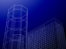 3d Abstract Architecture. Tunnel Background Royalty Free Stock Photos