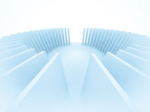 3d Abstract Architecture. Tunnel Background Stock Photo