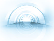 3d Abstract Architecture. Tunnel Background Royalty Free Stock Images