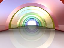 3d Abstract Architecture. Tunnel Background Stock Photography